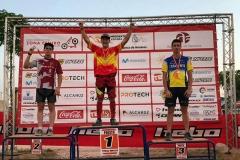 Antonio Fraile Arnay (izq)  subcampeón de España Junior